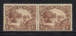 SOUTH AFRICA UNION, 1930, Mint  Hinged Stamp(s), 4 D Brown, Horizaontal Pair,  Nrs.47, # 299 - South Africa (...-1961)