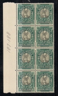 SOUTH AFRICA UNION, 1947, Mint  Never Hinged Stamp(s), Springbok (block Of 8) Nrs 187-188 #372 - South Africa (...-1961)