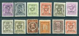 BELGIE - PRECANCELS - Voorafgestempelden/préobl Itérés - Typo -  Selectie Nr 386 - MH*/(*) - Prematasellados