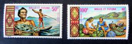 Szenen Aus Dem Inselleben 1969, Die Beiden Höchstwerte Mi.Nr. 224/25 Postfrisch - Wallis Und Futuna