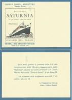 TRIESTE COSULICH LINE - MOTONAVE SATURNIA - CIRCOLO  NAZARIO SAURO BIGLIETTO D'INVIO  CERIMONIA FESTE DEL CINQUANTENARIO - Tickets D'entrée