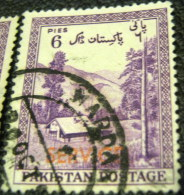 Pakistan 1954 Kaghan Valley Service 6p - Used - Pakistan