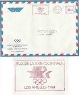 "OLIMPIADI - LOSANNA COMITE' INTERNATIONAL OLYMPIQUE - TARGHETTA ROSSA ""JEUX DE LA XXIII OLYMPIADE LOS ANGELES 1984"" - Francobolli"