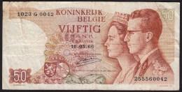 België 50 Frank 14-5- 1966 -NO: 1023 G 0042 - [ 6] Treasury