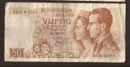 België 50 Frank 14-5- 1966 -NO: 1215 O 2584 - 50 Francs