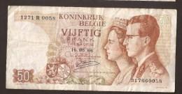 België 50 Frank 14-5- 1966 -NO: 1271 R 0058 - 50 Francs