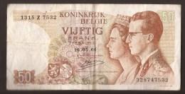 België 50 Frank 14-5- 1966 -NO: 1315 Z 7532 - 50 Francs