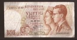 België 50 Frank 14-5- 1966 -NO: 1324 L 3549 - 50 Francs