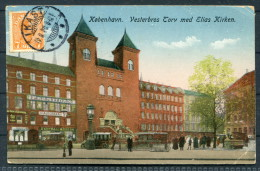 1920 Denmark Copenhagen Vesterbros Autotaxa Postcard Ikast Bjerregaard Coin Exchange -  Czechoslovakia - Covers & Documents