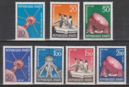 Haïti N° 129 - 131 *** & PA 384 - 387 *** Année Géophysique 1957 - 1958 - Haïti