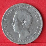 PORTUGAL  500  REIS  1875  12,5 GR - 0,917 SILVER KM# 509  -    (Nº07750) - Portugal