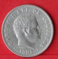 PORTUGAL  500  REIS  1893  12,5 GR - 0,917 SILVER KM# 535  -    (Nº07756) - Portugal