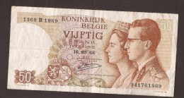 België 50 Frank 14-5- 1966 -NO: 1368 B 1869 - [ 6] Treasury