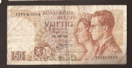 België 50 Frank 14-5- 1966 -NO: 1373 Q 3558 - [ 6] Treasury