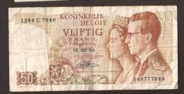 België 50 Frank 14-5- 1966 -NO: 1388 C 7040 - [ 6] Treasury