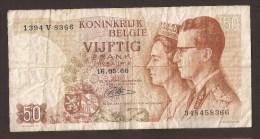 België 50 Frank 14-5- 1966 -NO: 1394 V 8366 - [ 6] Treasury