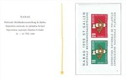 1959 Zu W 38 / Mi Bl 16 NABAG ST GALLEN No 9 Carnet PTT No 19 SBK 20,- Voir 2 Scans - Blocs & Feuillets