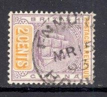 BRITISH GUIANA, Postmark ´ENMORE´on Ship Stamp - British Guiana (...-1966)