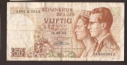 België 50 Frank 14-5- 1966 -NO: 1401 V 3012 - [ 6] Treasury