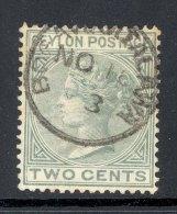 CEYLON, Postmark ´BOGAWANTALAWA´on Q Victoria Stamp - Ceylon (...-1947)