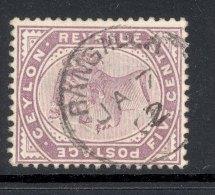 CEYLON, Postmark ´RANGALLA´on Q Victoria Stamp - Ceylon (...-1947)