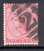 NATAL, Postmark ´BARRED NUMERAL 2´on Q Victoria Stamp - Zuid-Afrika (...-1961)