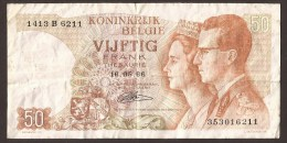 België 50 Frank 14-5- 1966 -NO: 1413 B 6211 - [ 6] Treasury
