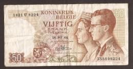 België 50 Frank 14-5- 1966 -NO: 1421 U 8224 - [ 6] Treasury