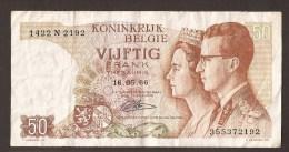 België 50 Frank 14-5- 1966 -NO: 1422 N 2192 - [ 6] Treasury