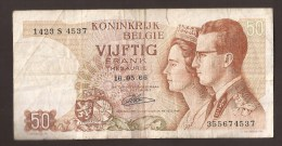 België 50 Frank 14-5- 1966 -NO: 1423 S 4537 - [ 6] Treasury