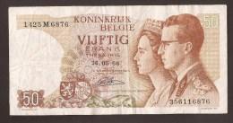 België 50 Frank 14-5- 1966 -NO: 1425 M 6876 - [ 6] Treasury