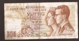 België 50 Frank 14-5- 1966 -NO: 1433 F 9302 - [ 6] Treasury