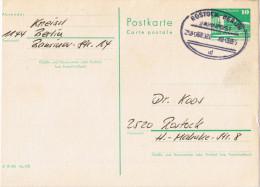 """E305 Ganzsache, Bahnpost """"ROSTOCK-BERLIN"""" UB """"b"""" 1984 - [6] République Démocratique"""
