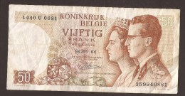 België 50 Frank 14-5- 1966 -NO: 1440 U 0881 - [ 6] Treasury