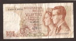 België 50 Frank 14-5- 1966 -NO: 1450 J 9494 - [ 6] Treasury