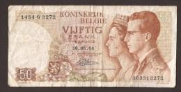 België 50 Frank 14-5- 1966 -NO: 1454 G 3272 - [ 6] Treasury