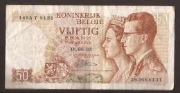 België 50 Frank 14-5- 1966 -NO: 1455 T 8131 - [ 6] Treasury