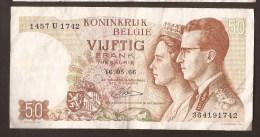 België 50 Frank 14-5- 1966 -NO: 1457 U 1742 - [ 6] Treasury