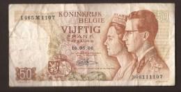 België 50 Frank 14-5- 1966 -NO: 1465 M 1107 - [ 6] Treasury