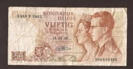 België 50 Frank 14-5- 1966 -NO: 1466 V 3462 - [ 6] Treasury