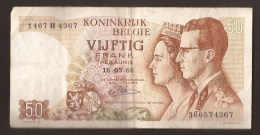België 50 Frank 14-5- 1966 -NO: 1467 H 4367 - [ 6] Treasury