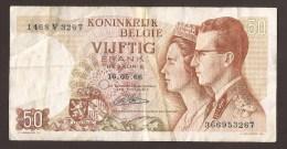 België 50 Frank 14-5- 1966 -NO: 1468 V 3267 - [ 6] Treasury