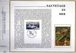 Feuillet Tirage Limité CEF CFA Réunion 18 Sauvetage En Mer Bateau Hélicoptère - Réunion (1852-1975)