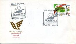 IRAN. N°2521 De 1998 Sur Enveloppe 1er Jour (FDC). Coupe Du Monde De Foot. 1998. - 1998 – France