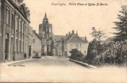 BELGIQUE - FLANDRE OCCIDENTALE - POPERINGHE - POPERINGE - Petite Place et Eglise St-Bertin.