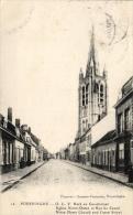 BELGIQUE - FLANDRE OCCIDENTALE - POPERINGHE - POPERINGE - O.L.V. Kerk en Casselstraat- Eglise Notre-Dame & rue de Ca