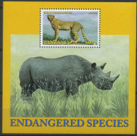Tanzania 2002 Fauna, Endangered Species, Wild Cats, Rhino - Felinos