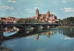 Espana-Spain, Salamanca 1964, Catedral Y Rio Tormes, Pont - Bridge,   Circulante Si 1964 - Salamanca