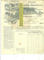 52 - Haute-marne - VAUDAINVILLIERS - Facture BEDARIDE - Laiterie - Fromagerie – 1903 - REF 26 - France