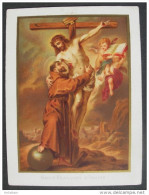IMAGE PIEUSE Chromo Vers 1900 : Saint FRANCOIS D´ASSISE / HOLY CARD / SANTINO S. FRANCESCO D´ASSISI - Imágenes Religiosas